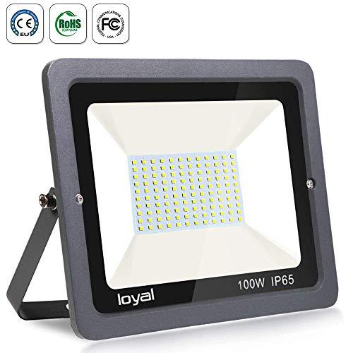 100W LED Strahler Außen loyal LED Scheiwerfer 10500LM Superhell Fluter,IP66 wasserdicht Industriestrahler,Kühles Weiß Flutlicht-Strahler,Außen-Leuchte Flutlicht-Strahler für Außenbereich