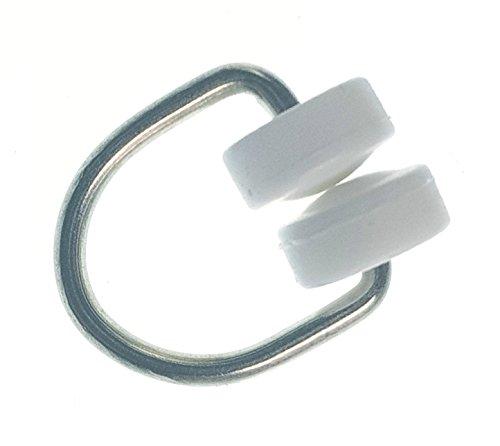 Gardinenröllchen T-Schiene T-Rollen mit Kunststoff Rollen 100 Stück
