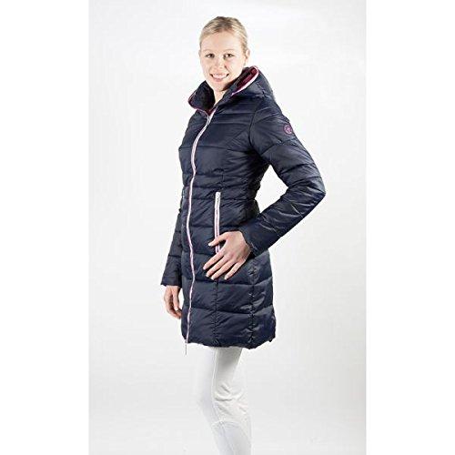 PFIFF Wintermantel-Moraya-Damen Steppmantel Jacke, blau-pink, M