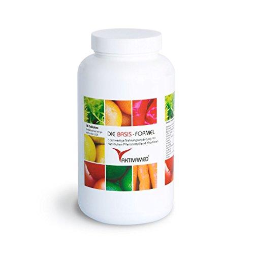 Basis-Formel Aktivamed Premium Multivitamin + Multimineral - 180 Tabletten hochdosiert. - 2 Monatspackung- Über 32 Vitamine, Mineralien & Spurenelemente inkl. komplettem B-Komplex in einem Produkt. Mit Metafolin (verwertbarer Folsäure) & L-Acetylcystein (Glutathionsynthese)