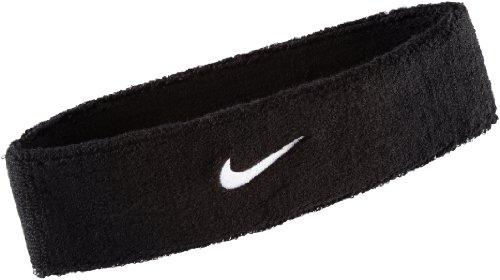 Nike 9381/3 Swoosh Stirnband, Black/White, One Size