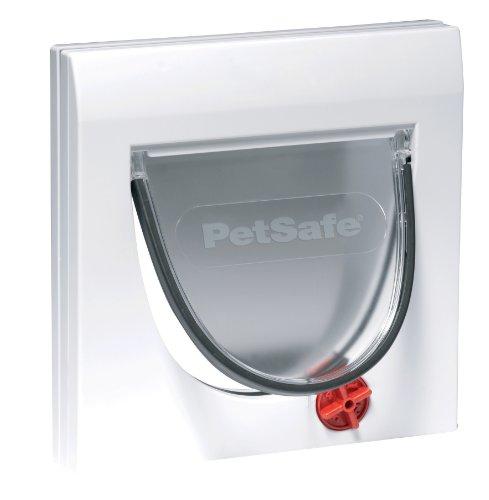 PetSafe Katzenklappe, Staywell Haustierklappe, Freilauftür, 4 Verschlussoptionen, Teleskoprahmen, mit Tunnel, robust, wetterfest, leise, Magnetrahmen, einfache Installation, für Katzen von max. 7 kg