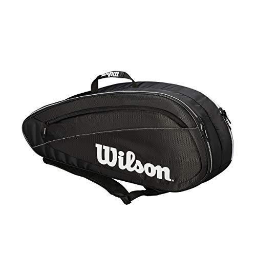 WILSON Tennistasche Fed Team, Fed Team 6 Pack, schwarz/weiß