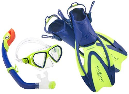Aqua Lung Sport La Costa Junior Pro Dive Kinder 3er Set (Tauchmaske, Schnorchel & Flossen) inkl. Beutel - 35-39 Blue