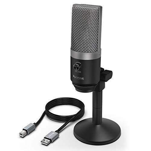 FIFINE PC USB Mikrofon für Computer (Mac und Windows), optimiert für Aufnahme und Streaming, Voice-Over, Podcasting für YouTube, Skype-Chats. (K670)