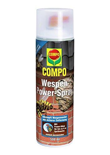 COMPO Wespen Power-Spray, Inkl. Power-Düse, Sofort- und Langzeitwirkung, 500 ml