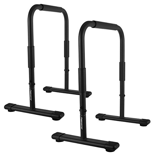Dip Barren Fitness Parallettes Premium (Paar) 80x65 cm | Push Up Stand Bar I Dip Station I Fitness Rack