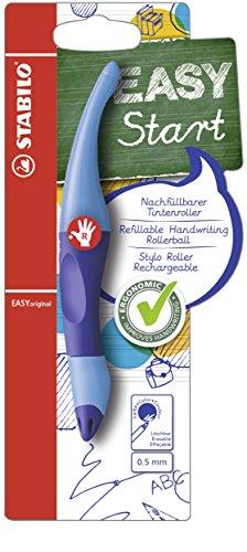 Ergonomischer Tintenroller - STABILO EASYoriginal in dunkel-/hellblau - Schreibfarbe blau (löschbar) - inklusive Patrone - für Rechtshänder