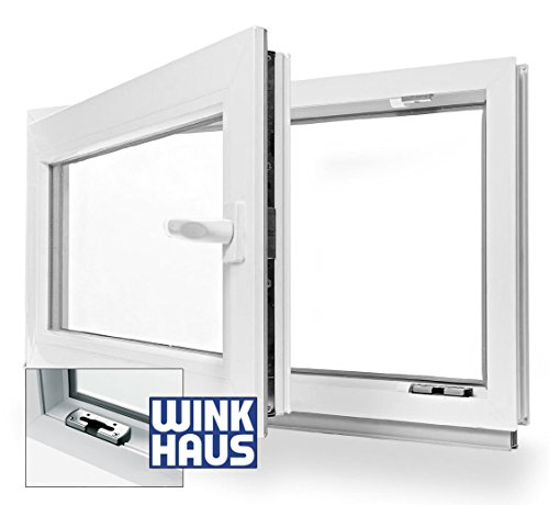 Kellerfenster Kunststoff Fenster Dreh Kipp 90 x 40 cm / 900 x 400 mm Winkhaus Beschlag Isolierglas DIN Rechts