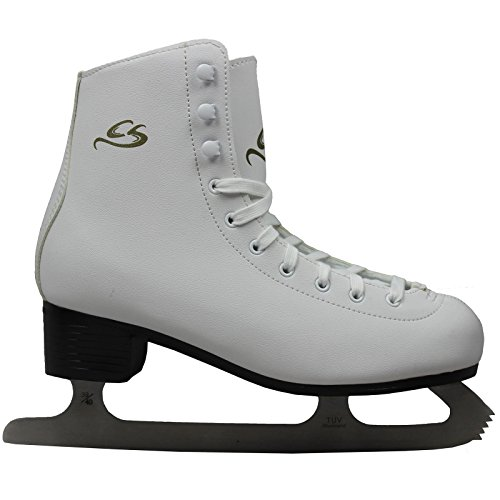 Cox Swain Figure Damen + Kinder Eiskunstlauf Schlittschuh -LOHJA- alle Größen, Weiß - Gr. 41