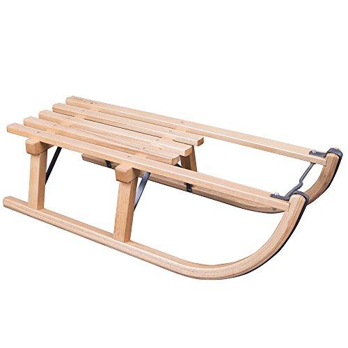 ScSports Unisex-Kinder Davoser Holzschlitten Schlitten, Holz, 80 cm