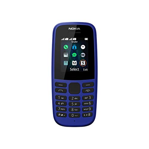 Nokia 105 Mobiltelefon (1, 8 Zoll Farbdisplay, FM Radio, 4 MB ROM, Dual-Sim) Blue, Version 2019