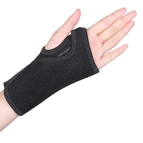 Handgelenkschiene Karpaltunnelsyndrom Handgelenkbandage Sehnenscheidenentzündung handschutz Handgelenkstütze leder Handgelenkschoner mit abnehmbarer Schiene Stabilisator für Schmerzlinderung-Links