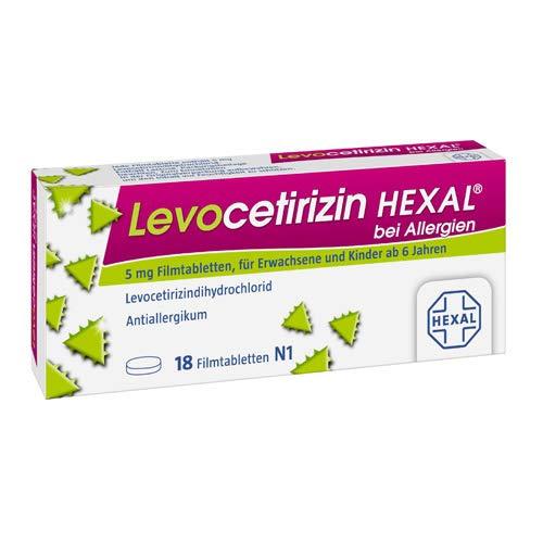 LEVOCETIRIZIN HEXAL bei Allergien 5 mg Filmtabl, 1x18 Stk.