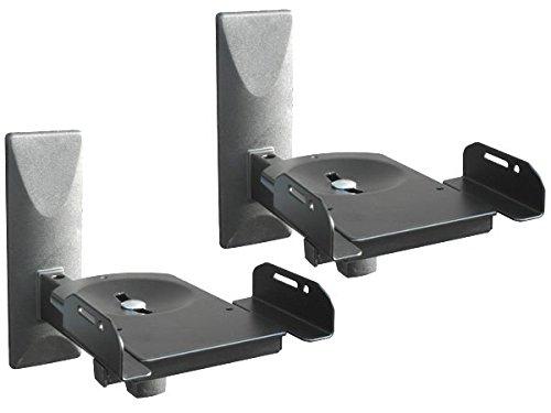 2 Stück Boxenhalter Wandhalter für Audio Speaker Lautsprecher Halter verstellbar Modell: BH5x2