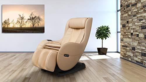 WELCON Massagesessel EASYRELAXX BEIGE mit Wärmefunktion - Massagestuhl mit Neigungsverstellung elektrisch L-Shape Automatikprogramme Knetmassage Klopfmassage Rollenmassage Airbagmassage