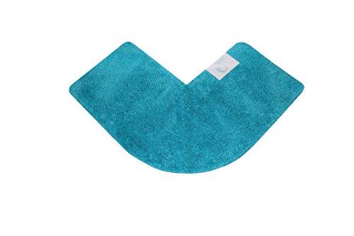 Cazsplash Viertelkreis Eck Dusche Matte, Baumwolle, Blaugrün, 47x 44x 6,5cm