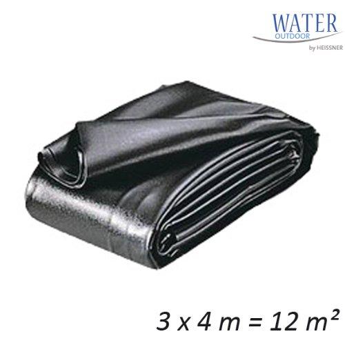 HEISSNER TF172-00 PVC Teichfolie, 0,5 mm, 12 qm, schwarz