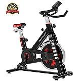 Yaumany Speedbike Indoorcycling Bike Spinning Bike 10KG Schwungrad Fitnesstrainer für Geschwindigkeit, Distanz, Zeit, Kalorien für zu Hause,Komfortsattel,MAX.120KG - 2 Jahre Garantie