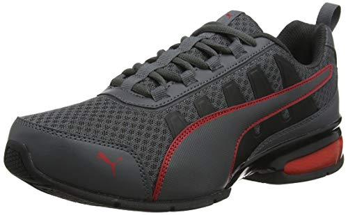PUMA Unisex-Erwachsene Leader Vt Mesh Sneaker, Grau (Asphalt-High Risk Red 1), 41 EU (7.5 UK)