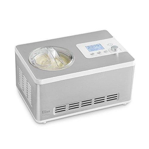 Eismaschine Elisa 2,0 L mit selbstkühlendem Kompressor 180 Watt von Springlane Kitchen (inkl. Joghurtbereiter mit Heizfunktion), Ice-Cream & Joghurt-Maker aus Edelstahl mit Abschaltautomatik, Eisbehälter & LCD Display