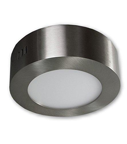 6 W LED Aufbauleuchte Lampen Deckenspot 230 V - Edelstahl Optik alu gebürstet