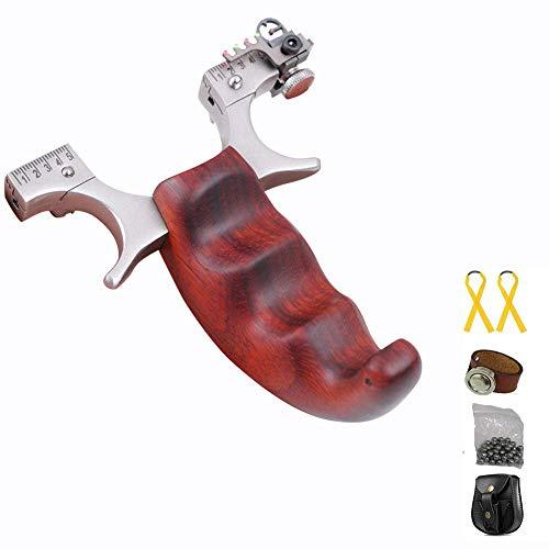 Toparchery Steinschleuder Set:Slingshot Schleuder Zwille Katapult Sportschleuder Jagd Schleuder-Profi (Schleuder Set)