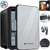 Kesser 2in1 Mini Kühlschrank 4 Liter Edelstahl | mit Kühl- und Heizfunktion | 45 Watt | Steckdose und am Zigarettenanzünder | 12 Volt und 230 Volt | Kabel Auto | Warmhaltebox| Mini-Thermobox