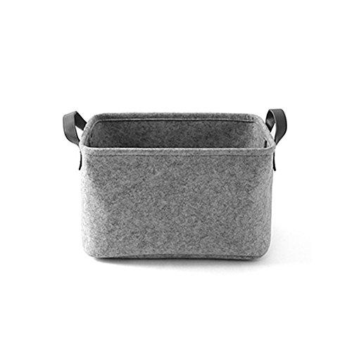 Filz Tuch Korb Die Speicherung Wäschekorb Tasche für Kleidung Lagerung Spielzeug Organizer, grau, Large