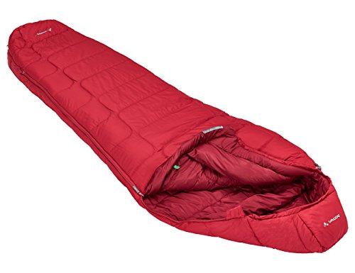 Vaude Unisex Schlafsack Sioux 800 SYN Reißverschluss Links, Dark Indian Red, 220 x 80 x 55 cm, 12126