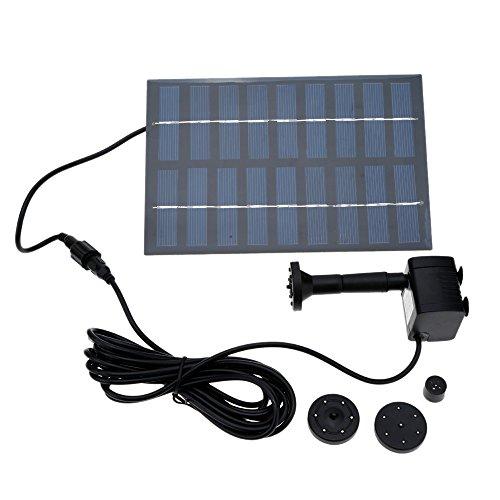 Decdeal 9V 1.8 W Bürstenlose Solarpumpe Solar Wasserspiel Springbrunnen Fontäne Pumpe