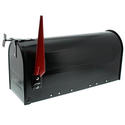 BURG-WÄCHTER, US-Mailbox mit schwenkbarer Fahne, 891 S, Stahlblech, Schwarz