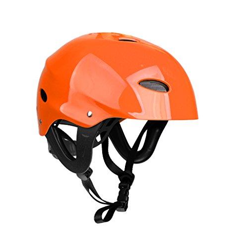 MagiDeal Wassersporthelm - Schutzhelm für Kajak Kanu Surfen usw. Wassersport - geeignet für 55-61cm Kopfumfang - Orange