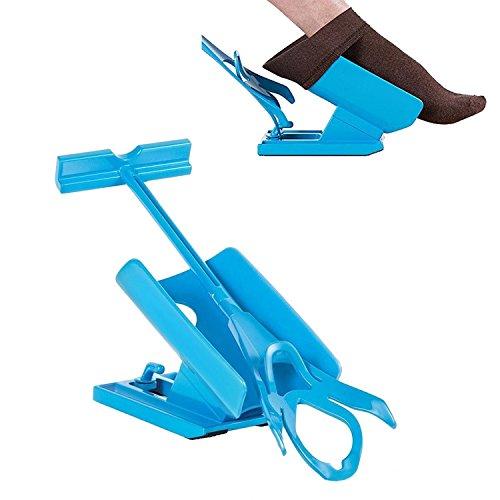 Romote Easy On/Easy Off - Socken-Helfer-Slider-Kit zum Anziehen und Ausziehen der Socken ohne zu verbiegen