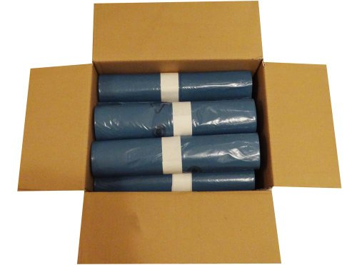 10 Rollen im Karton á 25 Heavy Duty Abfallsäcke (250 Stück), 120 Liter, absolut robust und stabil, 700x1100 mm, Stärke 39 my, Farbe blau