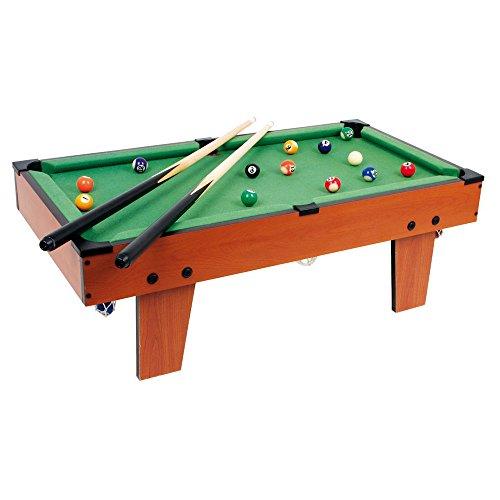 Tischbillard Maxi aus Holz, ideal zum Mitnehmen, schult spielerisch die Hand-Augen-Koordination, für kleine und große Billard-Fans ab 5 Jahre