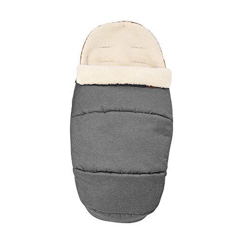 Maxi-Cosi kuschelig weicher 2-in-1 Fußsack, geeignet für alle Kinderwagen, auch als Sitzpolster verwendbar, Sparkling Grey