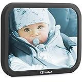 Kewago Autospiegel Baby - Rücksitzspiegel für Babys. Bruchsicher mit großem Sichtfeld - Babyspiegel für den Rücksitz in Volcano Gray