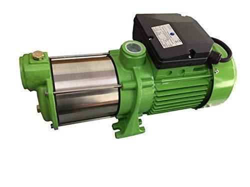 CHM Kreiselpumpe Gartenpumpe INOX HMC145 INOX - Leistung: 1100W - Spannung: 230 V / 50 Hz 9000 L/h - 150l/min. 5 bar. Laufräder aus Edelstahl - Edelstahlwelle + integr. thermischer Schutzschalter.