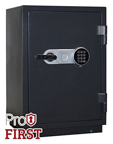 Profirst Versal Fire 65 Feuerschutztresor ECB S FS60P, feuerfester Dokumenschrank, Tresor mit Elektronikschloss, Zertifizierter Möbeltresor inkl. Verankerungsmaterial