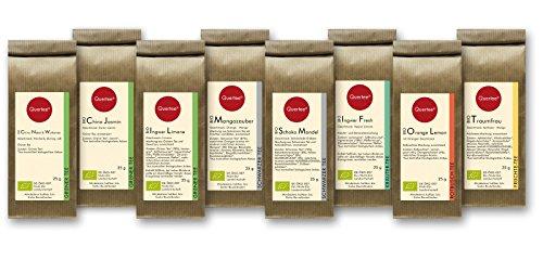 Tee Geschenkset Probierset Biotee Quertee Nr. 1 - 8 x 25g Bio Tee - Tee Geschenk