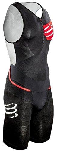 Compressport Herren TR3 Triathlon Einteiler Aero Suit, Schwarz, L