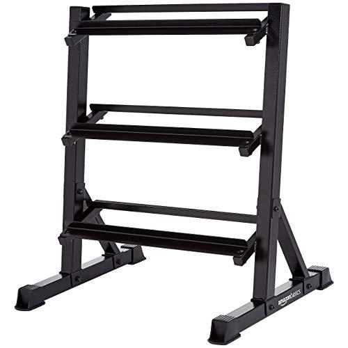 AmazonBasics - Hantelständer mit 3 Ebenen, 81 x 61 x 91 cm, schwarz