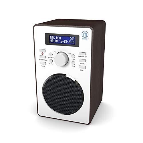 Barton II DAB/DAB+ Digital FM UKW Radio, Dualer Radiowecker, Sleep und Schlummer-Funktion (Nussbaum)