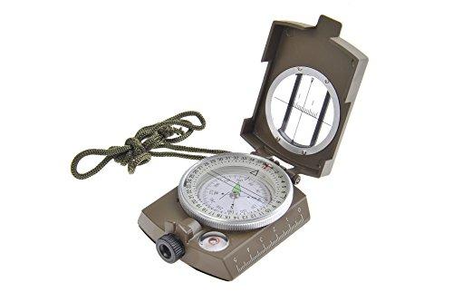 Huntington Kompass MG1 Camo Militär Marschkompass / Peilkompass Premium Qualität - professionell flüssigkeitsgedämpft, Metallgehäuse mit Linsensystem, bundeswehrgrün (K4580-01 DE)