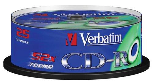 Verbatim 43432 700MB 52x Extra Schutz CD-R 25 Pack Spindel