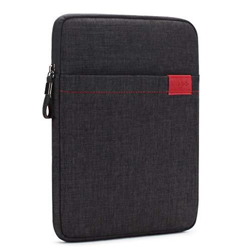 NIDOO 10 Zoll Tablet Hülle Wasserdicht Sleeve Case Etui Tasche Schutztasche für 10.5' 11' iPad Pro 2018/10' Microsoft Surface Go / 10.5' Samsung Galaxy Tab S4, Schwarz