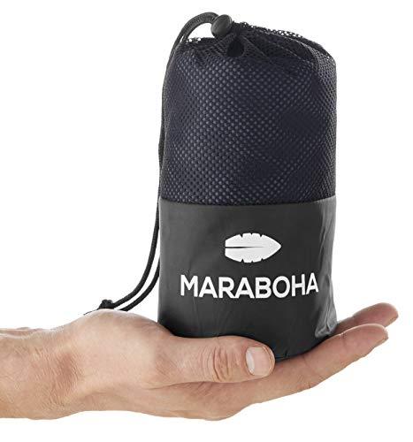 Maraboha Leichter Hüttenschlafsack aus seidig weicher Mikrofaser, Ultraleichter Reiseschlafsack, Schlafsack Inlett - Perfekt für Backpacker