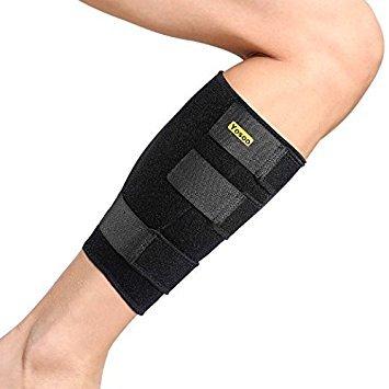 Yosoo Wadenbandage, Verstellbare Neopren Unterschenkelbandage Unterstützung für Zog Calf Muskelschmerzen Heftiges Wadenverletzung, Passend für Männer und Frauen