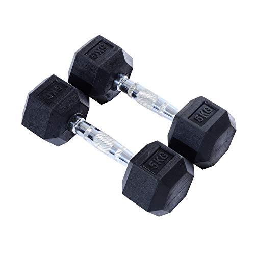Generic Hts Workout Hand-Set für Zuhause, 2 x 5 kg, Fitness-Liter-Set, Ho Gewichte, Gymnastik-Hanteln